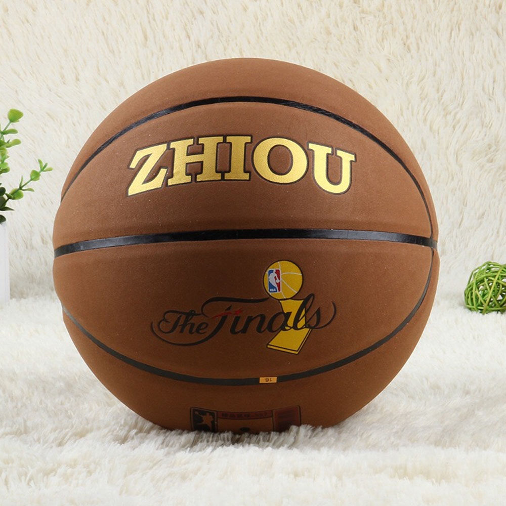 Genuine Leather Official Size 7 Basketball Ball Wear-Resistant Anti-Slip,Anti-Friction Indoor Outdoor for Training &Match kuangmi sporting goods basketball pu training game basketball ball indoor outdoor official size 7 military sporit series netball