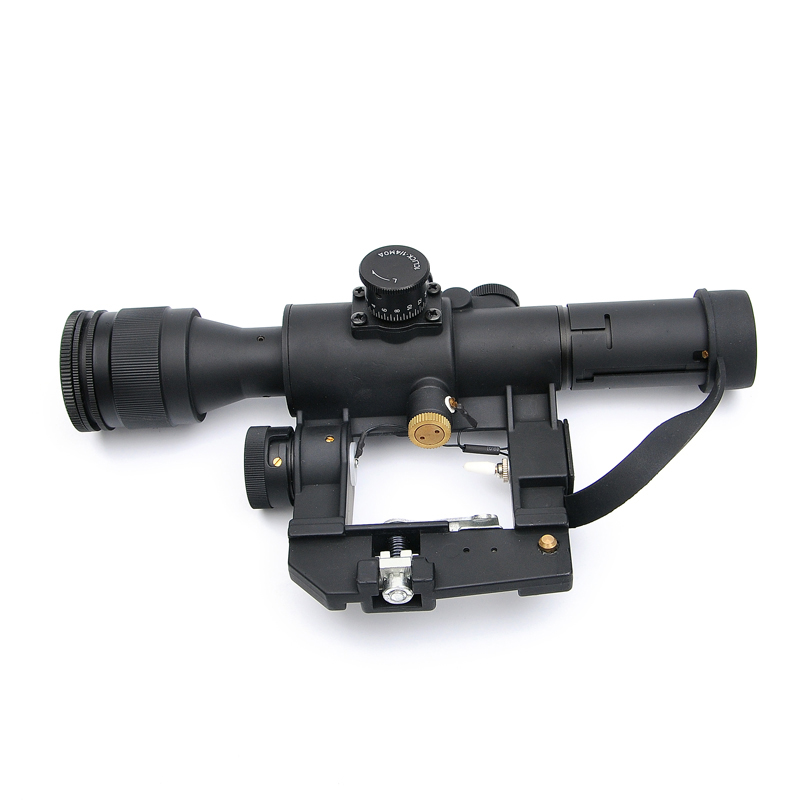 Tactical Hunting SVD Dragunov Optics 4x26 Red Illuminated Rifle Scope Airsoft Red Dot Sight Sniper Gear aim top svd gbb