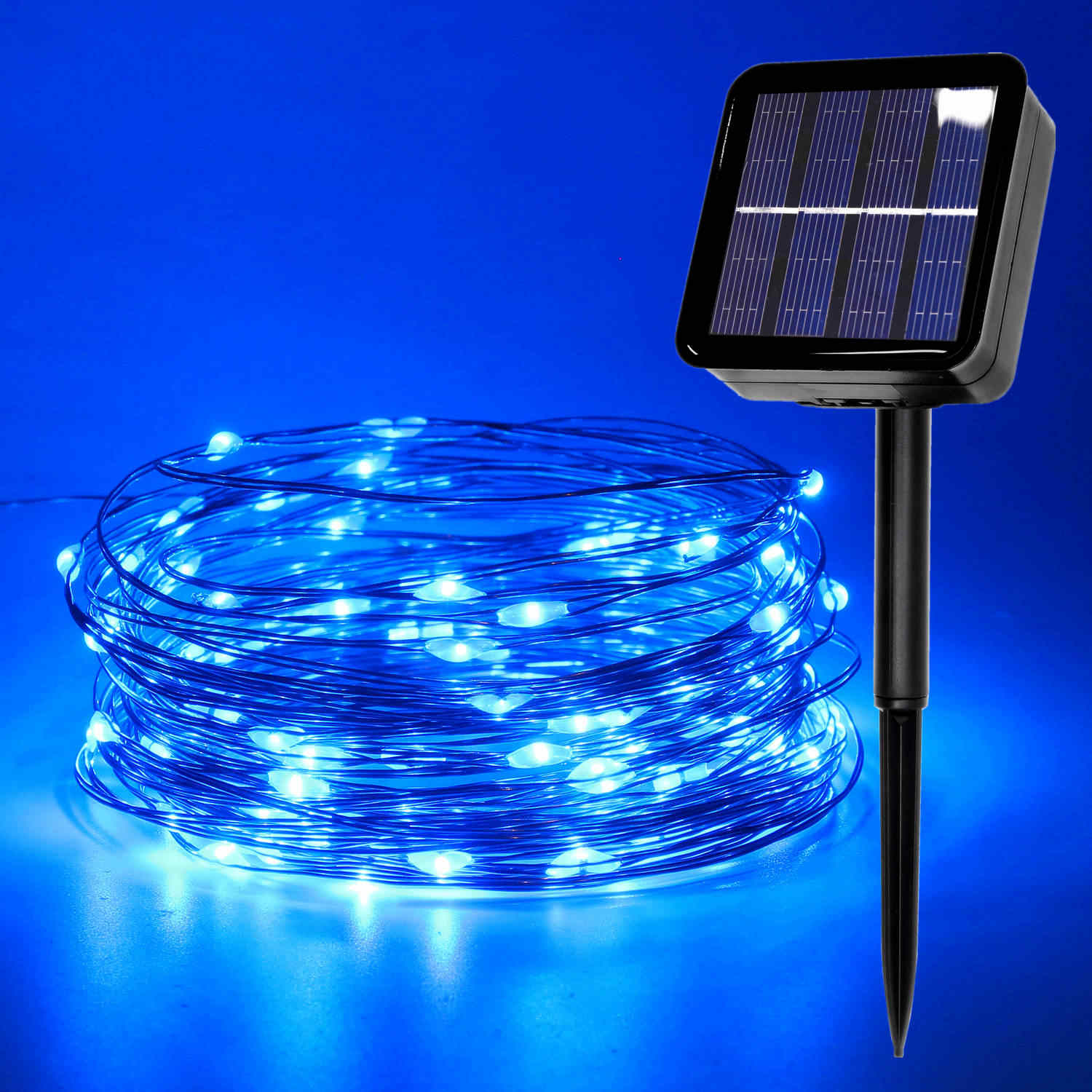 Outdoor Solar Lamp USB LED String Garland Light Fairy Copper Wire Waterproof Christmas Tree Wedding Party Decoration 5m 10m 20m