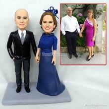 parent figurine custom bobblehead cheap wholesale wedding cake topper kiss lover figure customization couple dolls