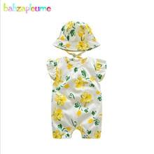 a18f0f4ad34e babzapleume 2Piece Summer Baby Clothes Newborn Jumpsuit Korean Cute Rompers+ Hats Toddler Costumes Little Girls
