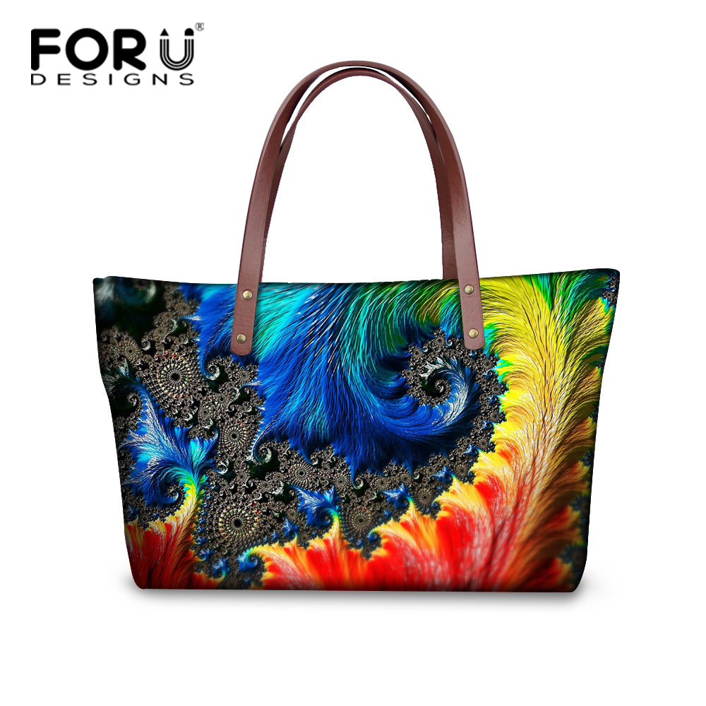 FORUDESIGNS Large Handbags for Girls Casual Messenger Hand Bag Colorful Designer Female Shoulder Shopping Bag Women Beach Bag