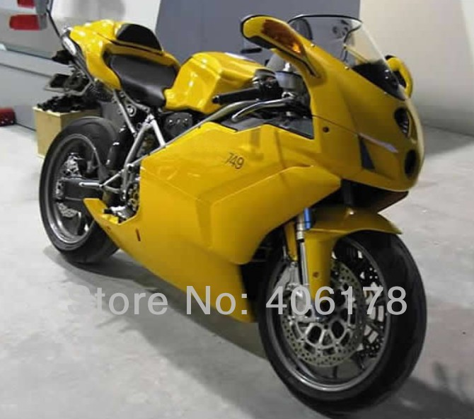Hot Sales,Cheap 999 749 05 06 Body works fairing For Ducati 999/749 2005 2006 Yellow Motorcycle Fairings (Injection molding)