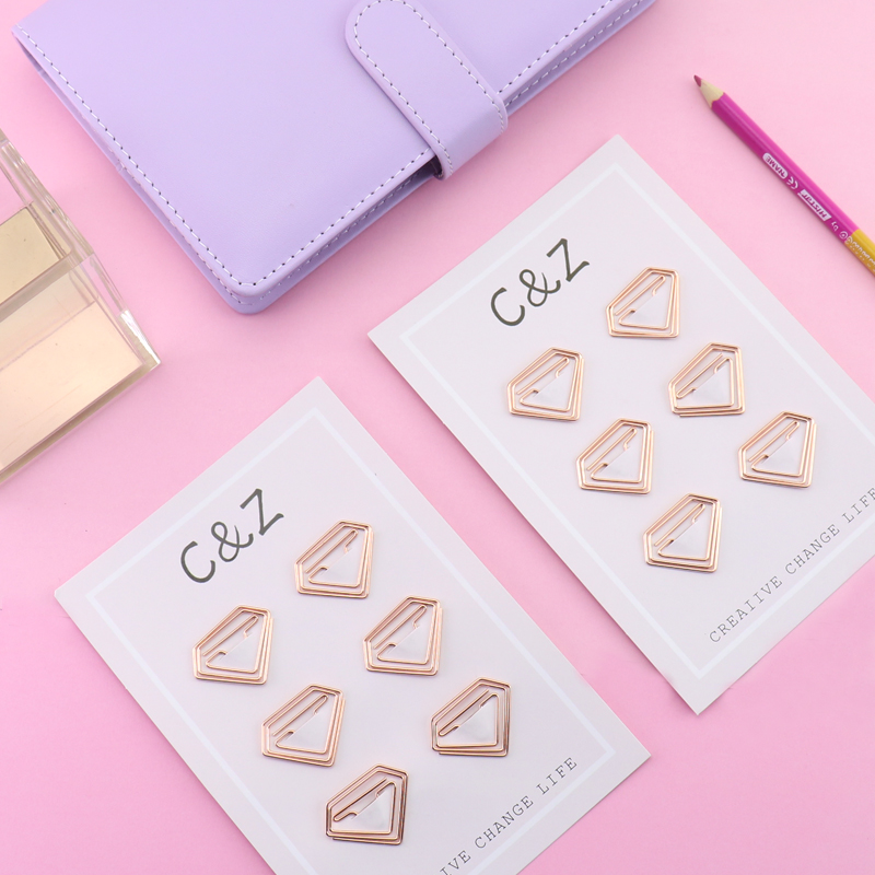 TUTU New Rose Red/Rose Gold Paper Clips Diamond/little Pony Bookmark Planner Tools Scrapbooking Tools Metal Paper Clip H0159