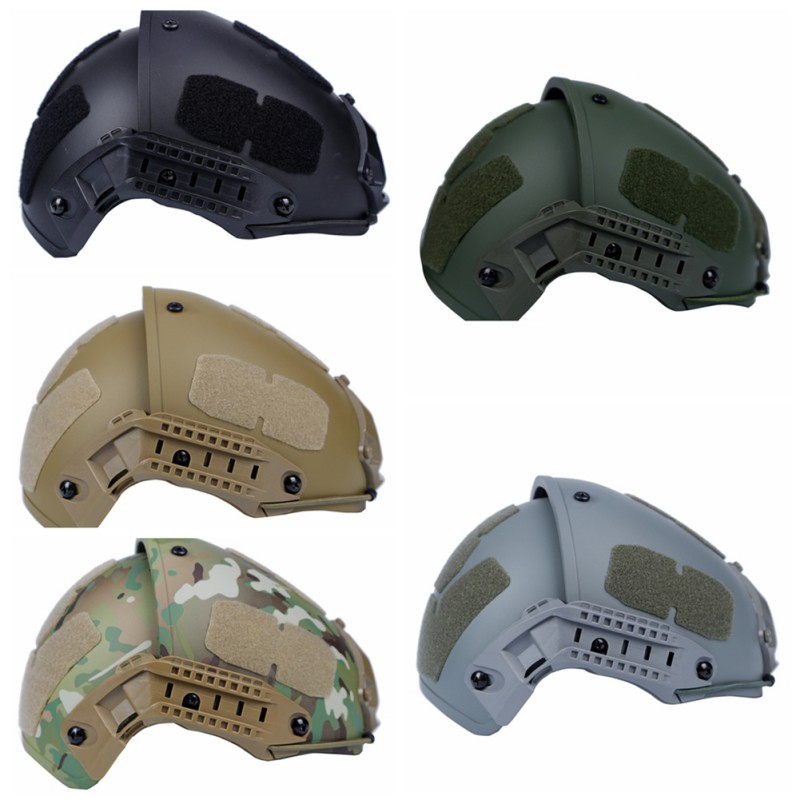 Military Tactical Fast Helmet Advanced Airsoft Gear Paintball Head Protector Sports Safety Adjustment Side Rail Cotton