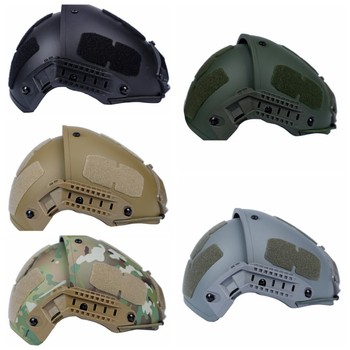 Military Tactical Fast Helmet Advanced  Airsoft Gear Paintball Head Protector Sports Safety Adjustment Side Rail+Cotton Pads