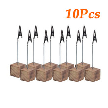 10pcs Clip Holder Small Cube Memo Picture Note Card Desk Paper Photo Clip Holder Table Stand Office Dest Set Office Supplies sodial r safe memo holder spike stick for bill receipt note paper order office desk
