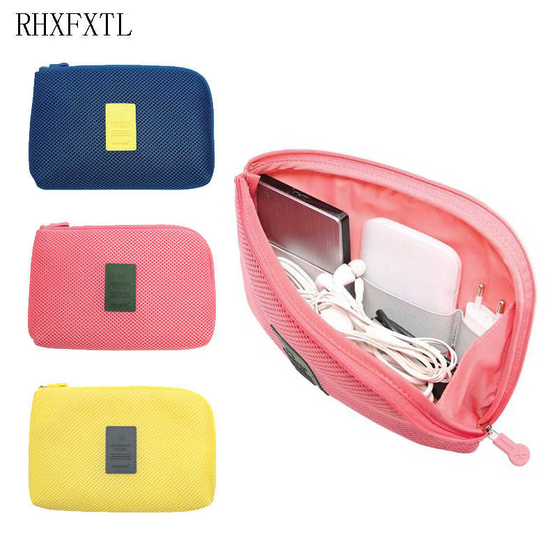 RHXFXTL high quality Women travel Organiser Bag Portable Electronics Chargers Data line package Travel accessories Bags Case H21