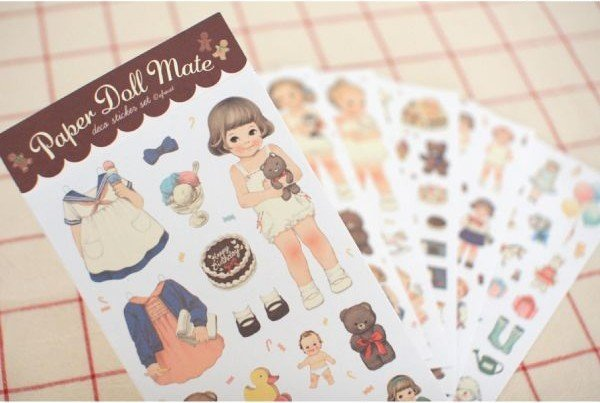 6pcs/pack  girl Paper sticker cute note sticker Decoration label Multifunction fashion gifts