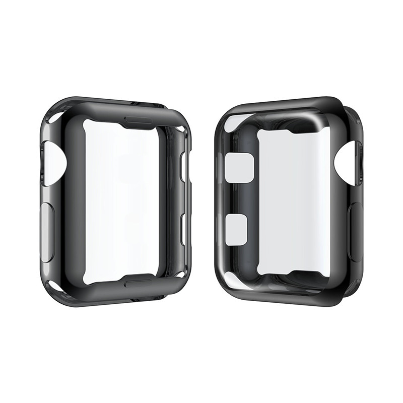 ASHEI Plated Protective Case For Apple Watch Screen Protector 42mm 38mm Slim All Around Soft TPU Case For Iwatch Series3/2 series 1 2 3 soft silicone case for apple watch cover 38mm 42mm fashion plated tpu protective cover for iwatch