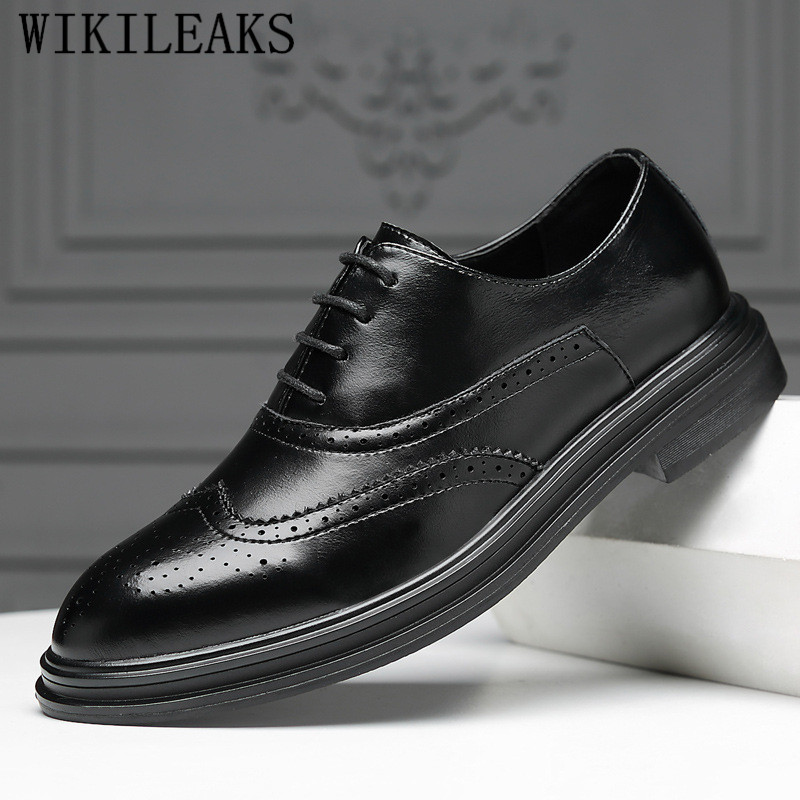 2019 Formale Schuhe Männer Kleid Schuhe Brogue Schuhe Männer Luxus Marke Oxford Schuhe Für Männer Chaussures Hommes Pointu Sapato Masculino