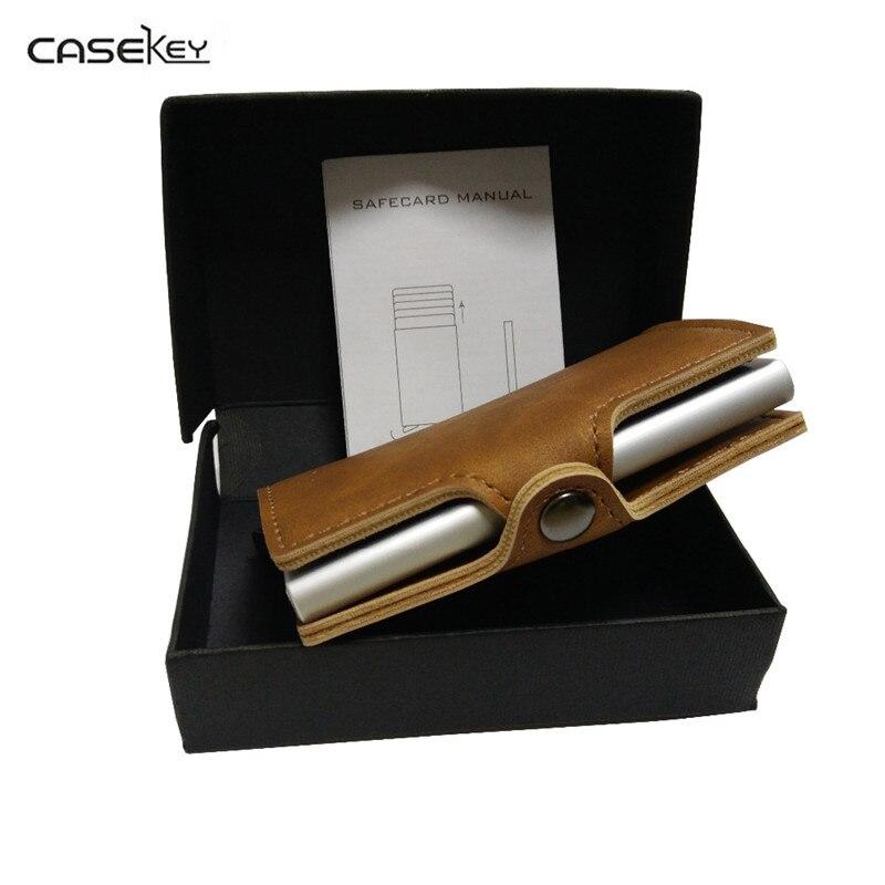 CaseKey Nouvelle porte carte PU Top Marque D'affaires ID Carte de Crédit titulaire Portefeuilles Poche Cas Banque Paquet de Carte de Crédit Cas Carte Boîte