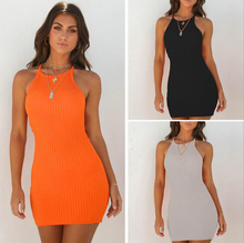 Spring and summer new style Sexy Ribbed Small Sling Dress women party dress Nightclub