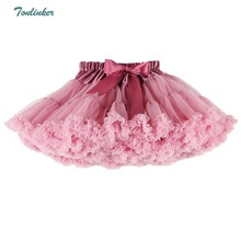 Baby Girls Tutu Skirts Fluffy Ballet Skirt Pettiskirt with Ruffle Saias Meninas Tulle Party Dance Roupas Menina 1PS