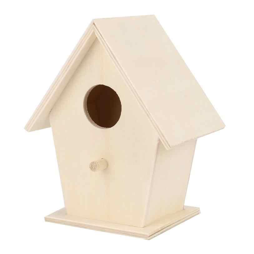 Bird House Creative wall - mounted ไม้กลางแจ้ง bird nest birdhouse Bird กล่องไม้กล่อง drop shipping 12x9.5 เซนติเมตร aug 10