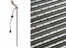 Buy Titanium TC4 Diving Pointer Non-rusty 320 *7mm 53g/pc with Laser Engraving Scale 1mm Precision Smooth End for Safety Carrying