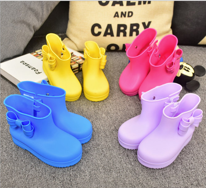 children boots mini sed rhino girls rainboots duck jelly shoes boys rain boots short water shoes children boots - Duck Rain Boots