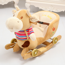 baby hobbyhorse wooden toy with music many kinds good gift for kids 59cm