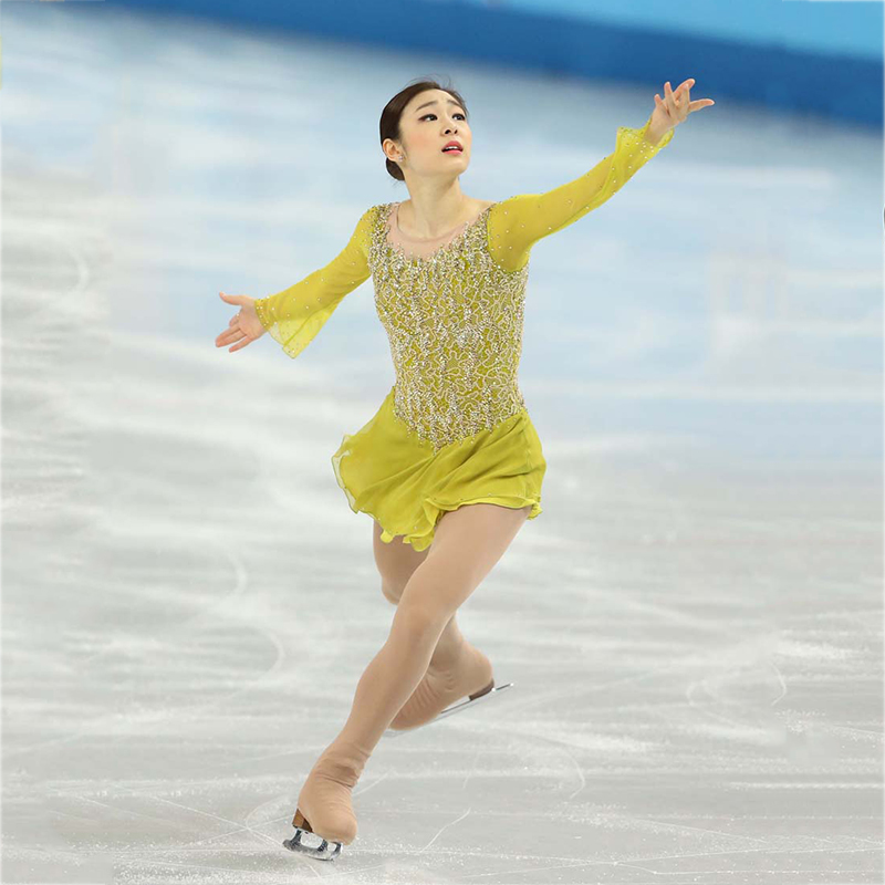 Rubu настройки Катание на коньках платье костюм для соревнований по фигурному катанию Батон кружевной костюм взрослый ребенок конкурс катан