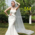 2017 Cheap 500CM White Long Bridal Veils 5M White Long One Layer Wedding Veils 2017