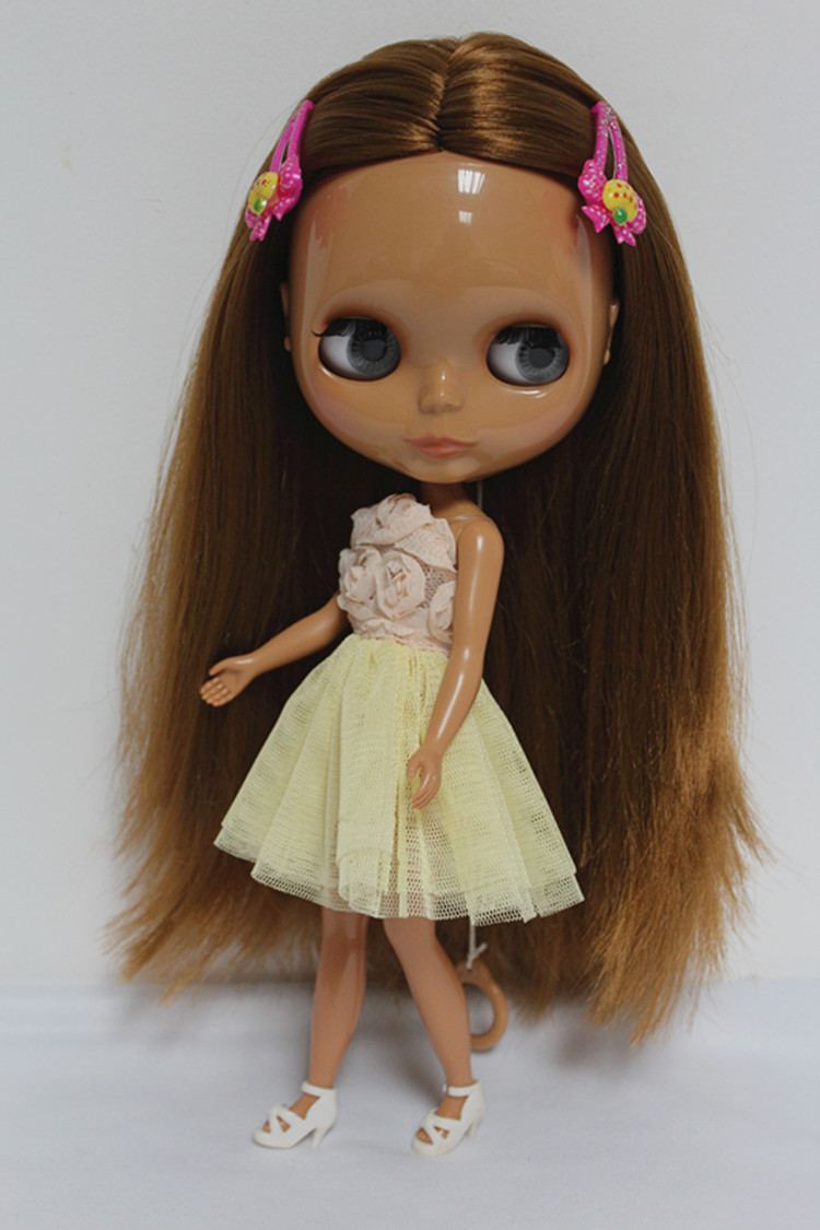 Free Shipping big discount RBL-101DIY Nude Blyth doll birthday gift for girl 4colour big eyes dolls with beautiful Hair cute toy free shipping bjd joint rbl 415j diy nude blyth doll birthday gift for girl 4 colour big eyes dolls with beautiful hair cute toy