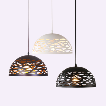 Modern LED pendant lights metal Hollow dining room lamp living room bedroom shop bar contemporary lighting fixture decoration contemporary chandelier modern american style dining room lighting fixture pendant lamp light for bedroom living decor