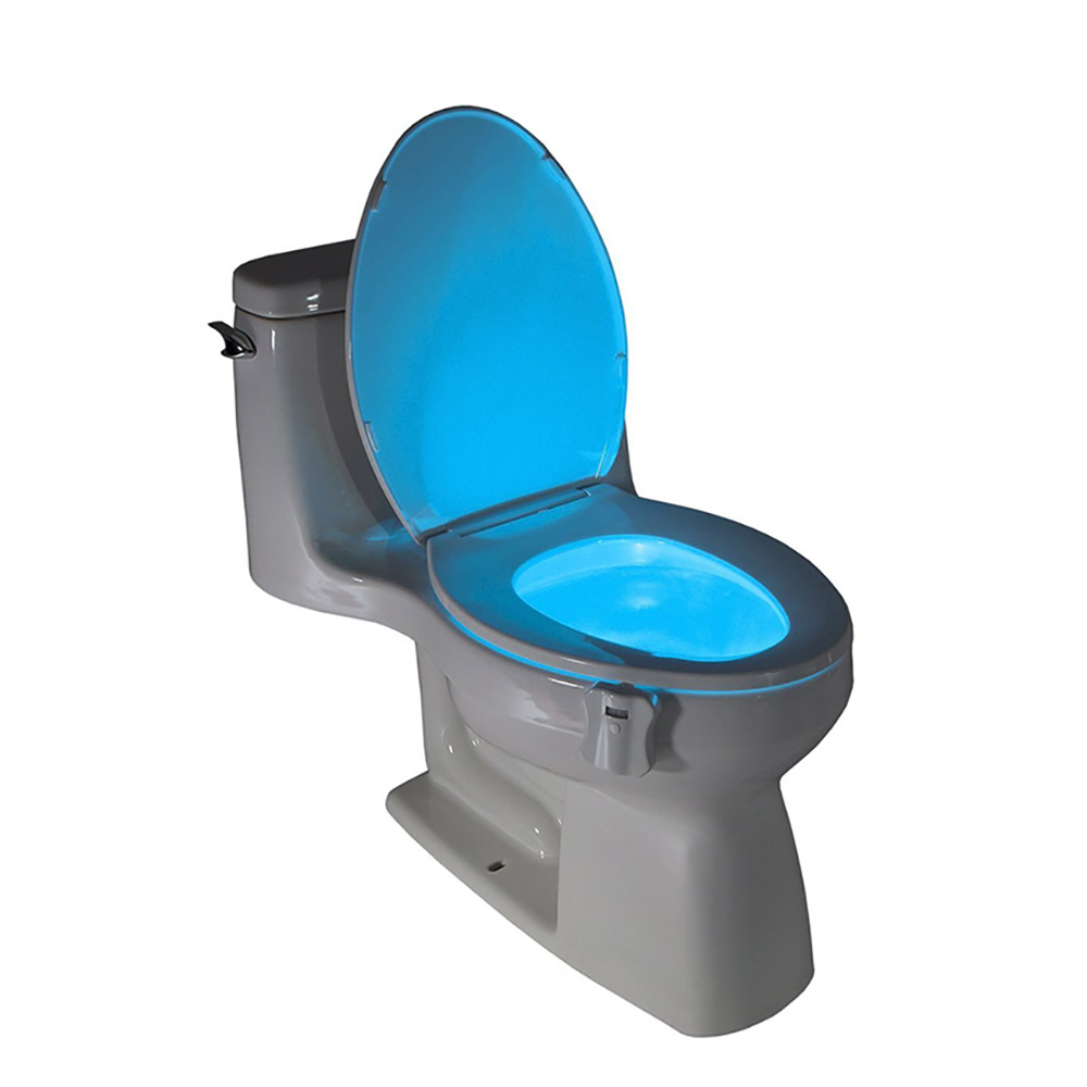 factory price 8d75a 94a22 US $6.84 5% OFF|LED Toilet Light Sensor Motion Activated Glow Toilet Bowl  Light Toilet Seat Night light Inside Bathroom Washroom 8 Color Change-in ...