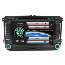 Free Ship 7″ 2 Din Car DVD GPS Player for VW Seat Skoda Fabia Roomster Superb Octavia Yeti 2006 2007 2008 2009 2010 2011 2012