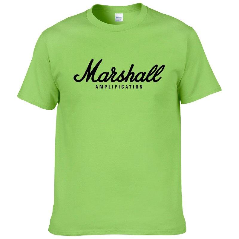 100% cotton Marshall T Shirt men short sleeves tee hip hop street wear for fans hipster 27