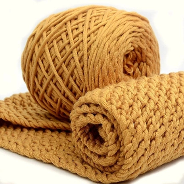 200gball Milk Cotton Thick Yarn Natural Soft Baby Yarn For Hand