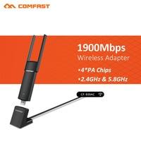 1900Mbps 5Ghz USB3.0 Wifi Adapter Dual Band RTL8814AU External Wifi Antenna Dongle Desktop/Laptop/PC LAN Adapter External cable