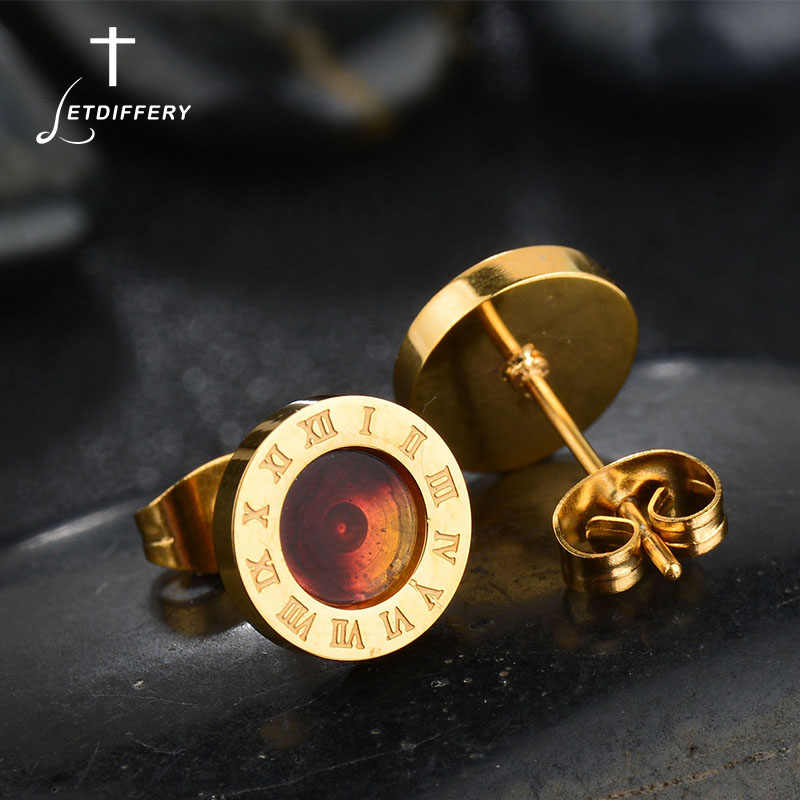 Letdiffery Famous Brand Gold color Shell Stud Earrings Stainless Steel Boucle d'oreille Femme Brincos Luxury Women's Jewelry