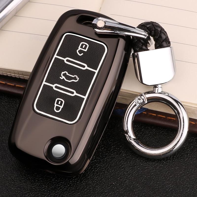 Luminous Leather Car-Styling Key Cover Case For Skoda Kodiaq Rapid Octavia 1 2 A5 A7 Superb A7 Yeti For VW Golf 7 GTI MK7 Tiguan