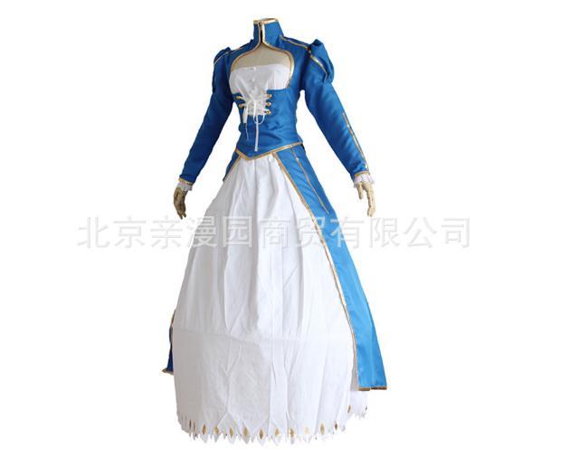 Saber Cosplay Fate Stay Night Costume Women Artoria Pendragon Stay Night Fate Zero Saber Cosplay Blue White Dress Women