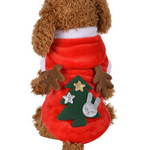 Elk Ears Christmas Dog Clothes For Small Dogs Winter Coat French Bulldog Jacket Chihuahua Shih Tzu Outfit Puppy Pet Clothes XSXL cartoon funny christmas dog clothes for small dogs winter coat french bulldog jacket chihuahua shih tzu outfit puppy pet clothes