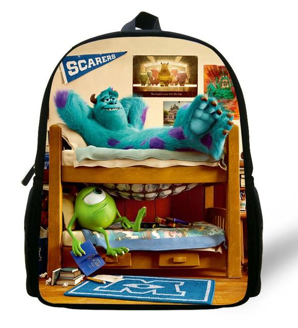 d58d280cea3 12-inch Cartoon Backpack Children Monsters University Bag Mike Wazowski  School Backpacks Kids Bag Boys Mochila Escolar