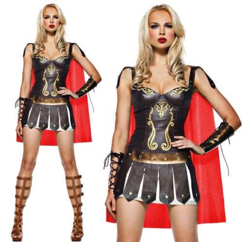 Ancient Greek Warrior costumes Spanish gladiator Superhero Women Fancy dress