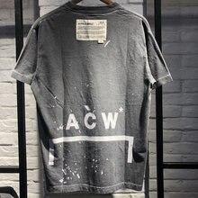 Melhor qualidade A-COLD-WALL acw camisetas masculinas femininas algodão solto acw topo camisetas casuais A-COLD-WALL acw