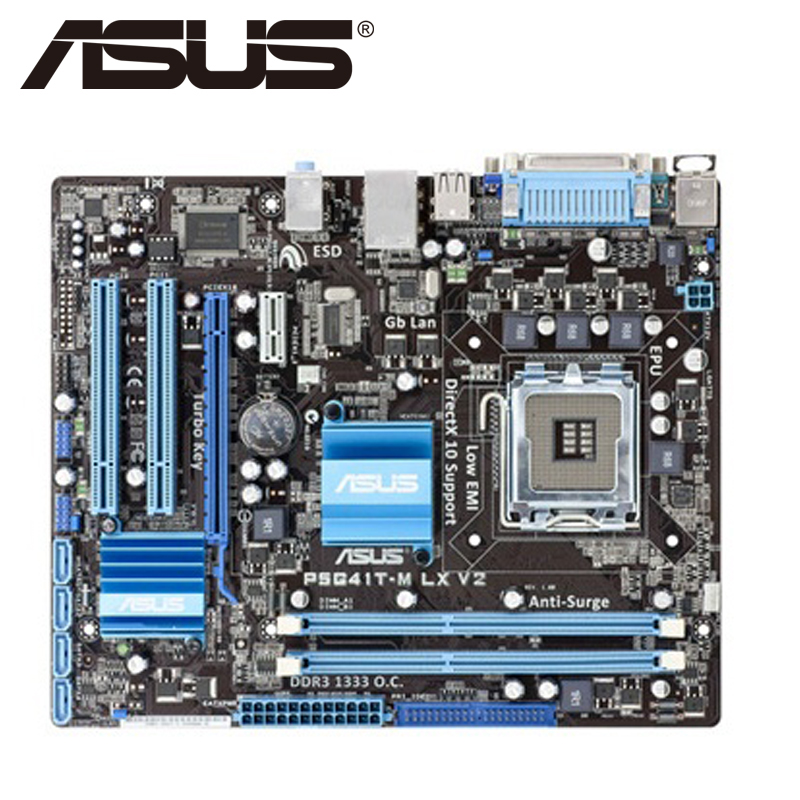 Asus P5G41T-M LX V2 Desktop Motherboard G41 Socket LGA 775 Q8200 Q8300 DDR3 8G u ATX UEFI BIOS Original Used Mainboard On Sale asus m5a78l desktop motherboard 760g 780l socket am3 am3 ddr3 16g atx uefi bios original used mainboard on sale