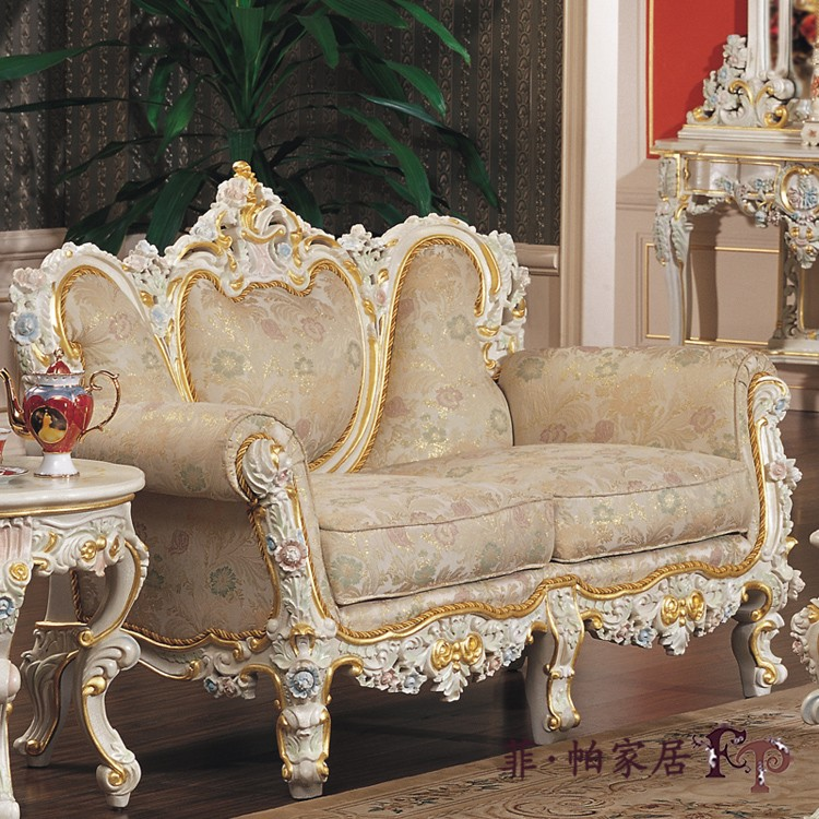 European Antique Furniture Hand carved Wood Sofa Set Living Room Sofa  Fabric Beanbag French 1+2+3 sofa set-in Living Room Sofas from Furniture on  ... - European Antique Furniture Hand Carved Wood Sofa Set Living Room