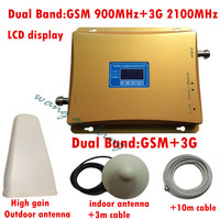 1 Set LCD Display GSM 3G Repeater 900 2100mhz Dual Band Signal Booster Repeater GSM WCDMA
