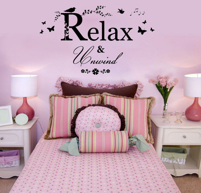 Relax & Unwind wall decals vinyl stickers home decor living room ...