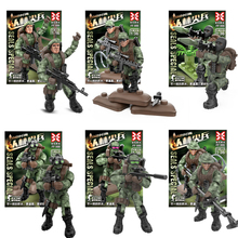 Jungle Military sets toys Figures With Weapons Building Blocks Compatible toy Soldiers ww2 Army Bricks Gift Toys For 1110pcs future knight fort series building blocks diy toy compatible legoinglys with weapons action satellite toy for child gift