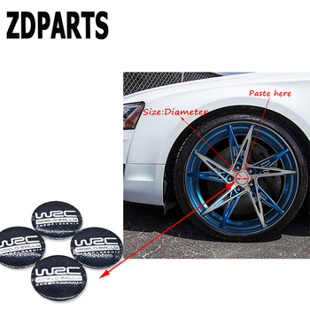 ZDPARTS 4X 56mm WRC Car Tire Wheel Center Hub Cap Cover Sticker For Skoda Octavia A5 A7 2 Rapid Fabia Yeti Superb Volvo V70 XC60 image