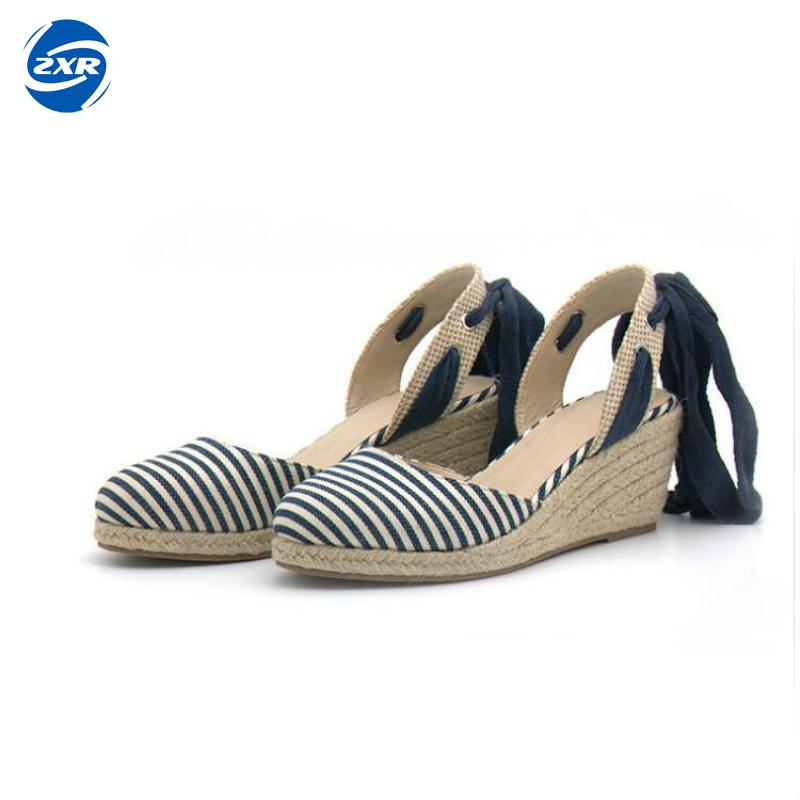 Hemp Fabric Women Wedge Sandals Fashion Mixed Colors Creepers Closed Toe Classic Sandals Women Platform Beach Shoes women creepers shoes 2015 summer breathable white gauze hollow platform shoes women fashion sandals x525 50