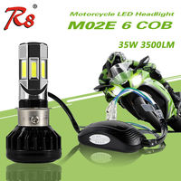 RTD Hot Selling Universal Type Motorcycle LED Headlight Bulb M02W H4 HS1 BA20D P15D H6 3500LM