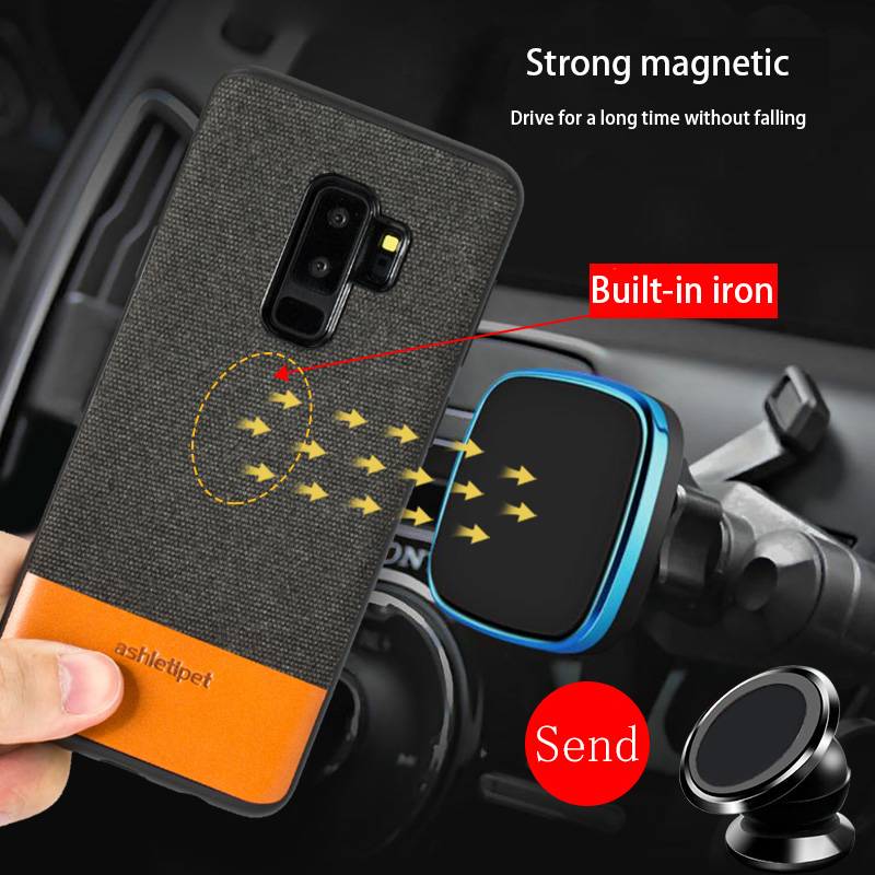 canvas stitch cowhide phone case for Samsung Galaxy S20 Ultra s10 S9 S7 S8 s20 plus Note 10 Plus a80 a50 a70 A51 A7 A8 2018 A30