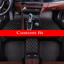Car floor mats for Kia K7 Cadenza Optima K5 Forte K3 Sportage Sorento Carens case full cover car styling carpet liners(China)