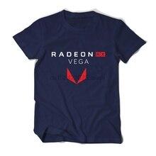 PC graph process Gamer AMD Radeon RX Vega T shirt Geek Men tees cotton casual camiseta ryzen brand clothing male casual t shirts