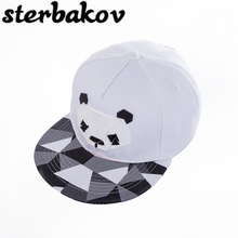 2018 Summer New Panda Cartoon Adjustable Baseball Caps SnapBack Hats For Men Young Women Fashion Animal Hip Hop Sun Bone Hat